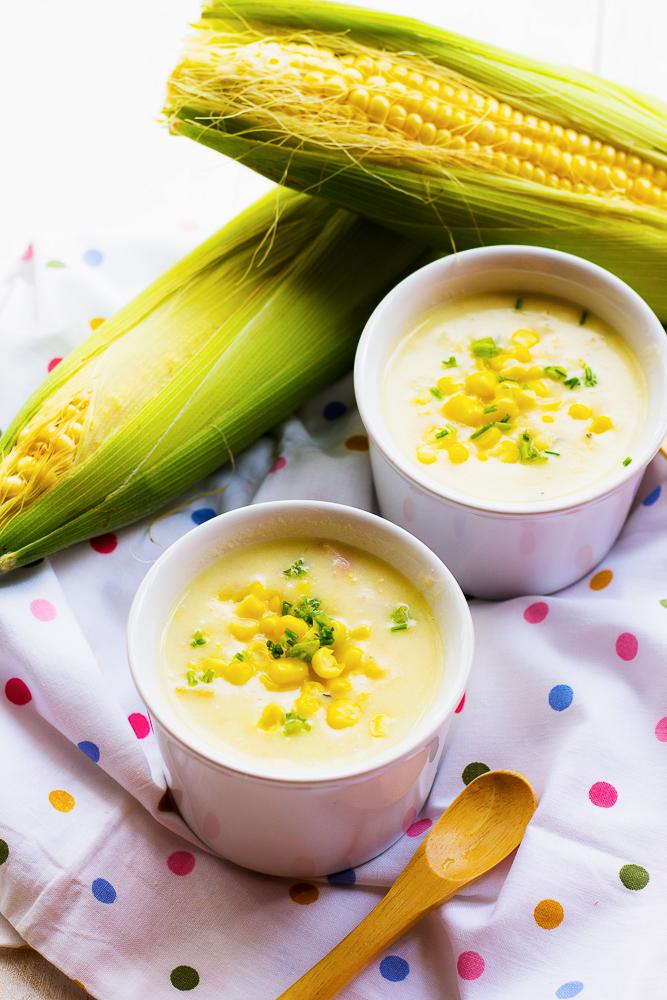 Healthy Breakfast | Corn Chowder by Le Plain Canvas