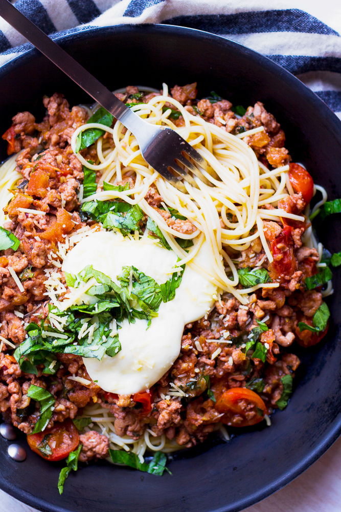 Weekend Brunch | Tomato Basil Chicken Parmesan Bolognese