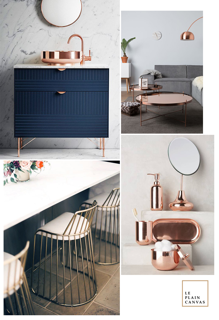 Mood Board | Copper Trend by Le Plain Canvas