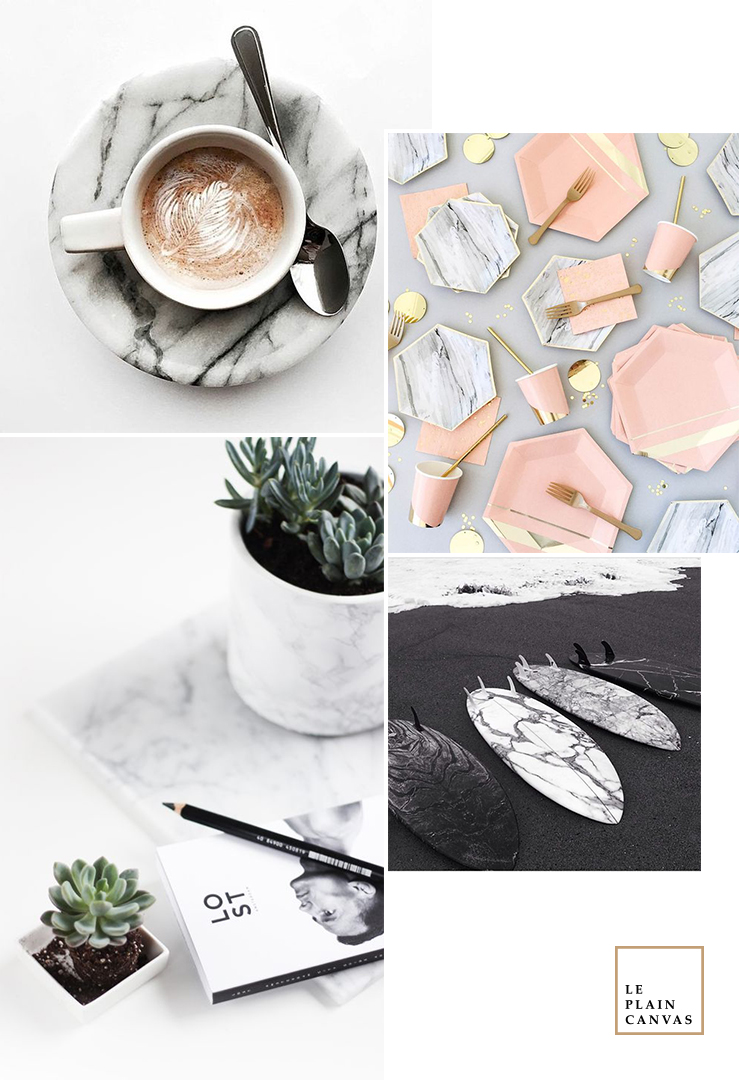 Mood Board | Marble Trends by Le Plain Canvas