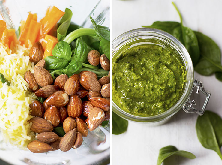 Almond Pesto Dips by Le Plain Canvas